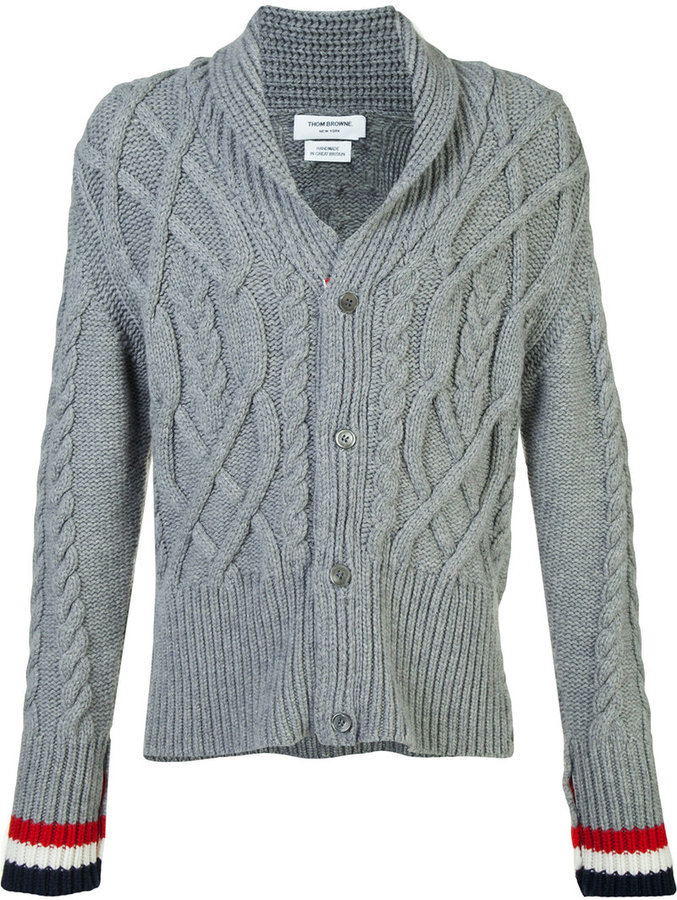 Thom Browne Thick Cable Knit Cardigan Where To Buy How To Wear