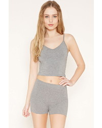 Forever 21 Heathered Knit Cropped Cami