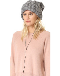Rebecca Minkoff Hand Knit Cable Headphone Beanie