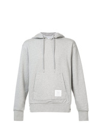 Thom Browne Center Back Stripe Loopback Knit Pullover Hoodie