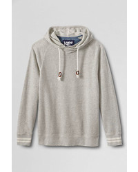 Lands' End French Terry Loose Knit Textured Hoodie