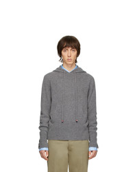 Thom Browne Grey Cashmere Over Washed Hoodie