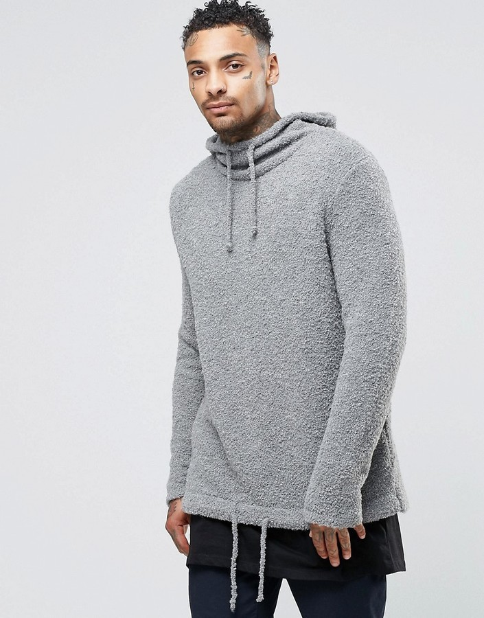 Asos Knitted Hoodie In Boucle Yarn Where To Buy How To Wear