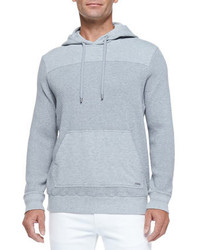 Michl kors waffle knit pullover hoodie gray medium 173078