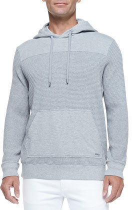 Michael Kors Michl Kors Waffle Knit Pullover Hoodie Gray | Where ...