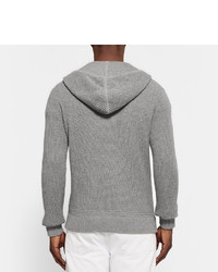 ... Polo Ralph Lauren Waffle Knit Cotton And Cashmere Blend Zip Up Hoodie  ...