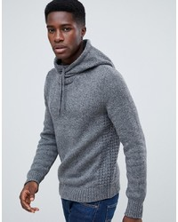 Pier One Wrap Hooded Jumper In Grey