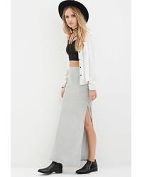 Ribbed knit maxi skirt medium 418661
