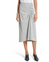 Tibi Ruched Midi Skirt