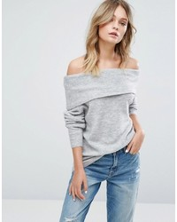 Jdy Off The Shoulder Knitted Top