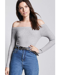 LOVE21 Love 21 Contemporary Off The Shoulder Top
