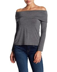 Bobeau Marilyn Off The Shoulder Long Sleeve Blouse
