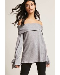 Forever 21 Marled Off The Shoulder Top