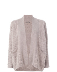 N.Peal Basketweave Relaxed Cardigan