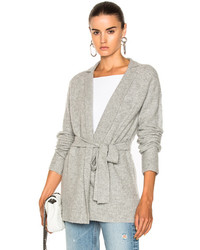 ATM Anthony Thomas Melillo Belted Cardigan In Gray