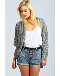 Boohoo Olia Oversized Slub Knit Cardigan