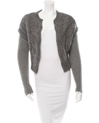 Carven Cable Knit Long Sleeve Cardigan