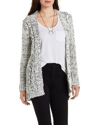 Charlotte Russe Marled Chunky Cardigan Sweater