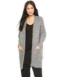 DKNY Long Sleeve Open Front Cardigan