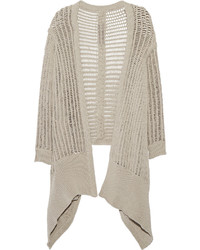 Rick Owens Draped Open Knit Cardigan