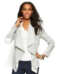 Ellen Tracy Marled Knit Draped Cardigan