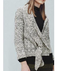 Mango Outlet Flecked Cotton Blend Cardigan