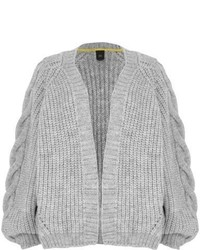 River Island Grey Chunky Cable Knit Cardigan