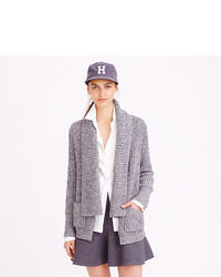 J.Crew Marled Rib Stitch Open Cardigan Sweater
