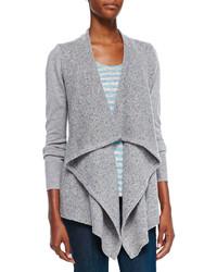Joie Starley Mixed Knit Open Sweater Andea Striped Linen Slub Tee