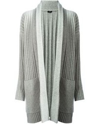 Joseph Ribbed Knit Open Cardigan