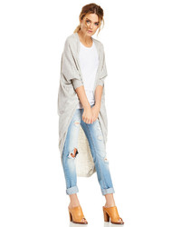 Glamorous Long Cocoon Cardigan In Gray S M