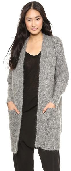 DKNY Long Sleeve Open Front Cardigan