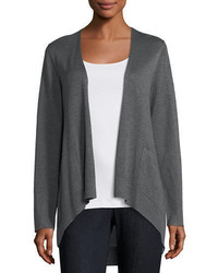 Eileen Fisher Long Slouchy Sleek Knit Cardigan Plus Size