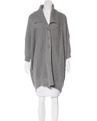 Stella McCartney Longline Open Knit Cardigan