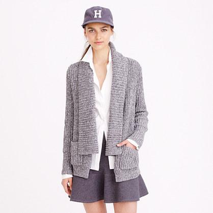 J.Crew Marled Rib Stitch Open Cardigan Sweater | Where to buy ...