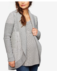 A Pea in the Pod Maternity Cable Knit Open Front Cardigan