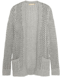 Michl Kors Collection Open Knit Cashmere And Cotton Blend Cardigan