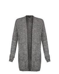New Look Grey Longline Knit Cardigan