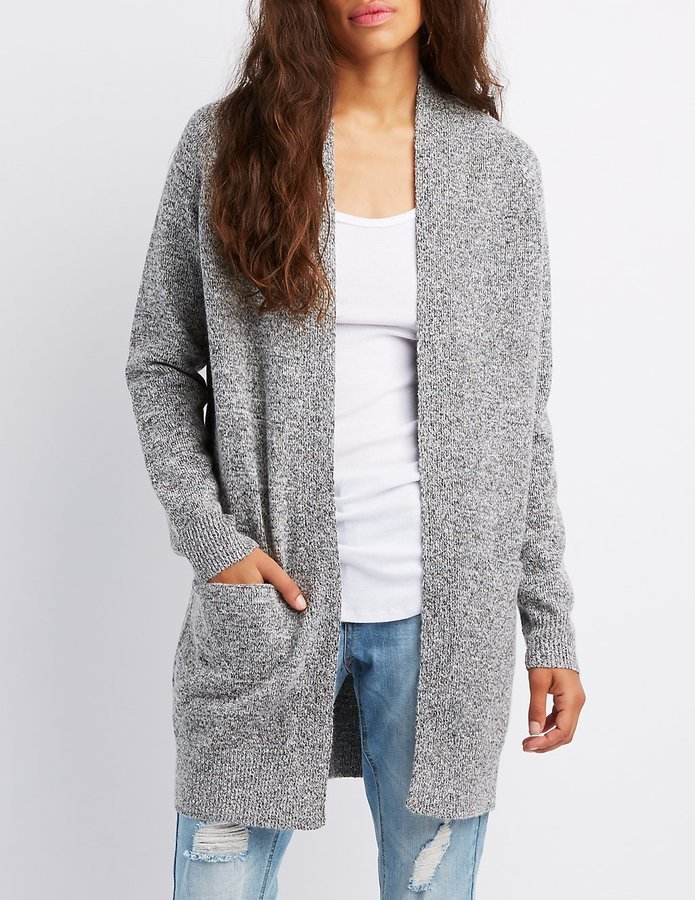 Charlotte Russe Open Front Shawl Cardigan