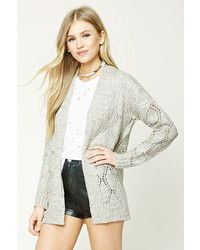 Forever 21 Open Knit Shawl Cardigan