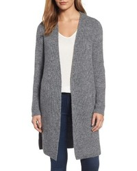 Petite halogen long ribbed cardigan medium 5422859