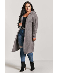 Forever 21 Plus Size Hooded Open Front Cardigan