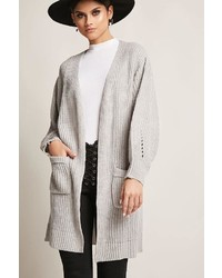 Forever 21 Purl Knit Open Front Cardigan