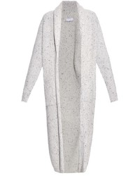 Raey Ry Chunky Ribbed Knit Donegal Wool Blend Cardigan
