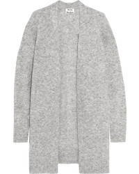 Acne Studios Raya Knitted Cardigan Gray