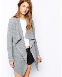 Vila Recita Knitted Cardigan Ligh Gray Marl