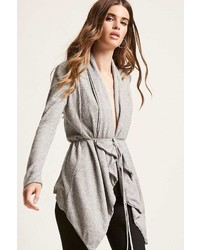 Forever 21 Ribbed Self Tie Cardigan