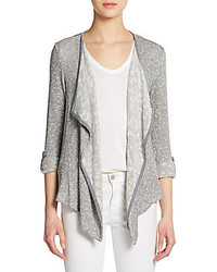 Slub knit open front cardigan medium 238096