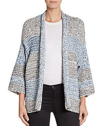 Vince Striped Open Front Cardigan