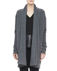 Vince Textured Knit Open Cardigan